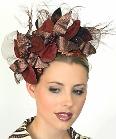 Fashion hat Frida by Melbourne milliner Louise Macdonald