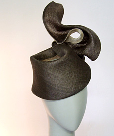 Fashion hat Vali by Melbourne milliner Louise Macdonald